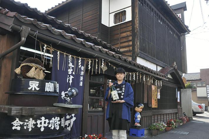 「伝統を守りながら新しい取り組みに挑戦していきたい」と話す林さん=2016年9月11日、会津若松市・鶴乃江酒造