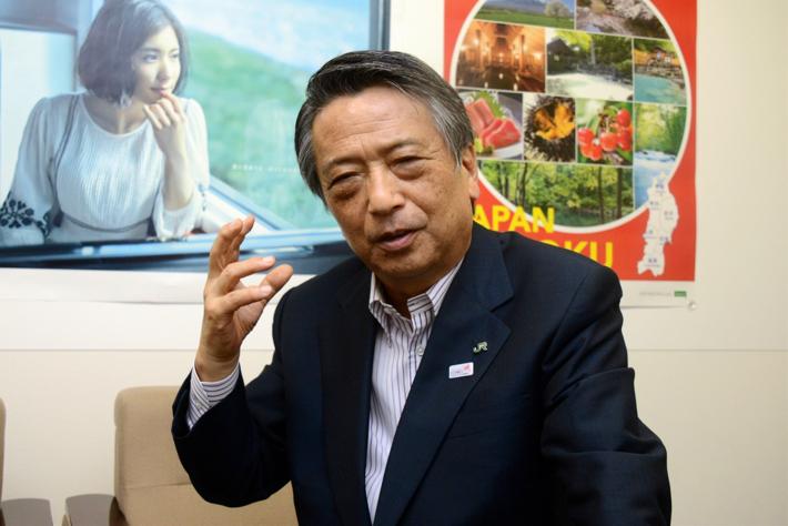 東北の観光再生への取り組みを語る清野会長